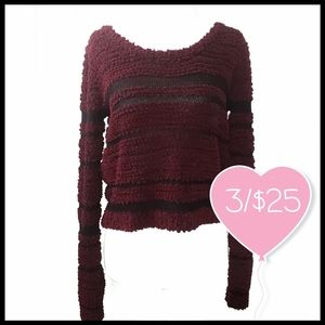 ⭐3/$25⭐ Pink Rose Fluffy Cropped Sweater